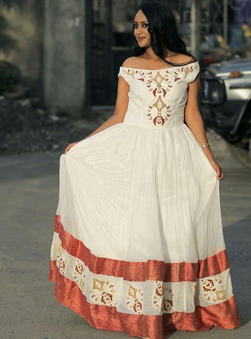 Raya Tibeb - Ethiopian Traditional New Fashion Dress
