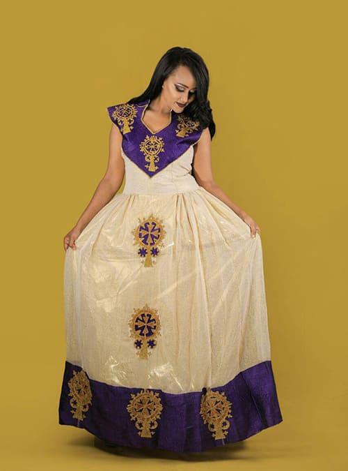 Habesha Traditional New Style Dress