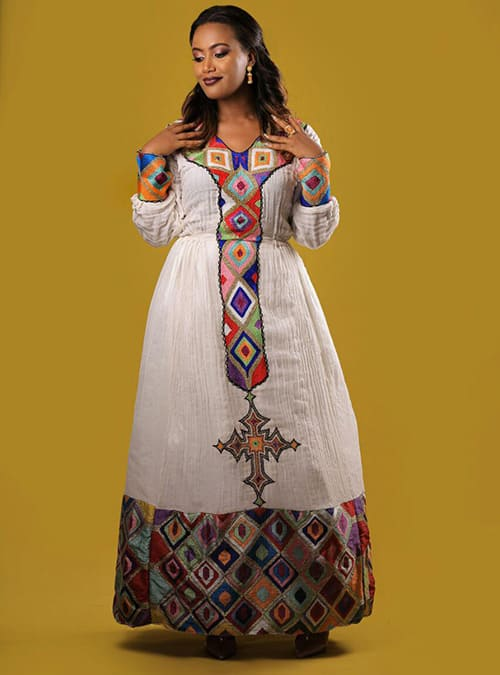 Traditional New Fashion Habesha Kemis