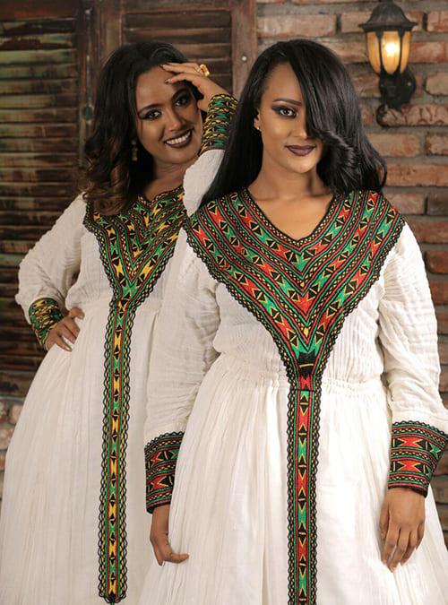 Rainbow Dress - New Style Ethiopian Traditional Dress