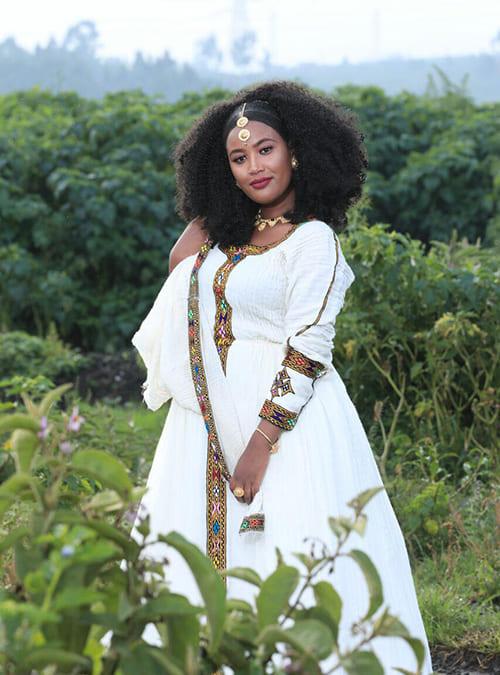 New Style Ethiopian Habesha Kemis