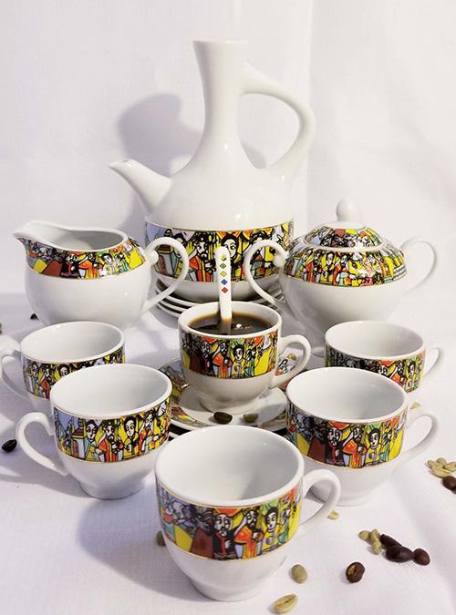 Queen of Sheba Design Coffee Set