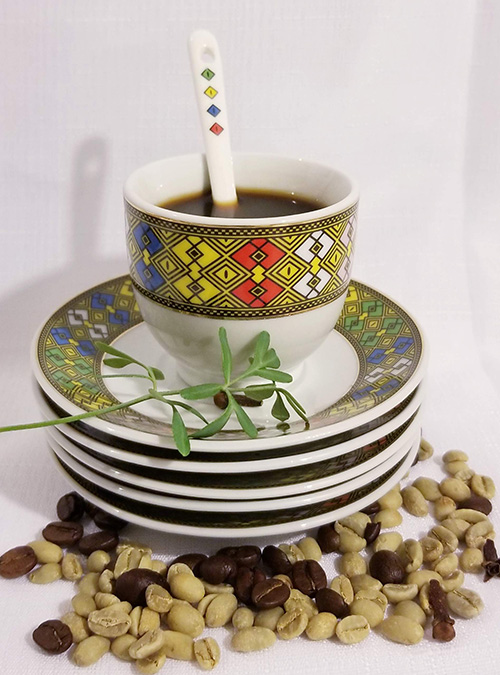 Deep Tilet Design Cups Saucers Set