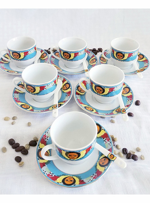 Angel Design Cups Saucers Set