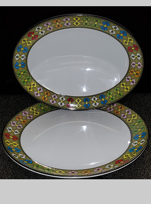 Traditional Oval Plates