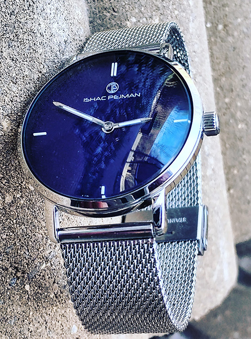 Blue Silver Lady Stainless Steel Watch