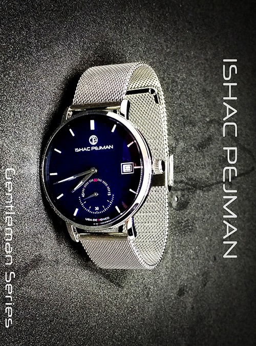 Blue Gentleman Stainless Steel Watch