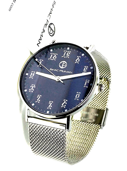 Silver Blue Stainless Steel Watch