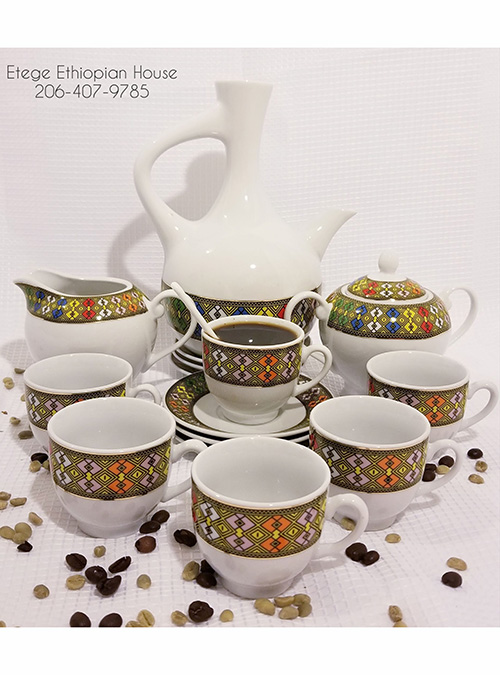 Deep Tilet Design Coffee set