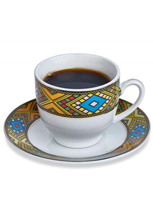 Eritrean Cups Saucers Spoons Set