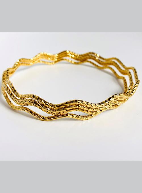 Barentu Gold Plated Bangles