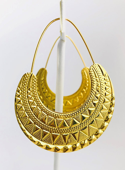 Bilen Hoop Gold Plated Earrings