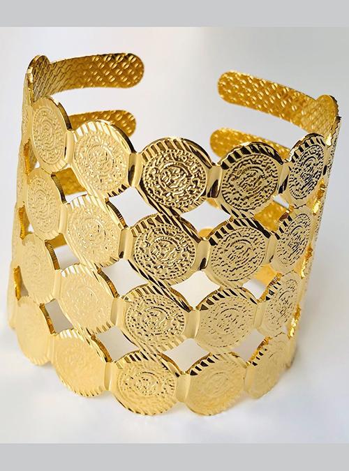 Bisha Gold Plated Cuff