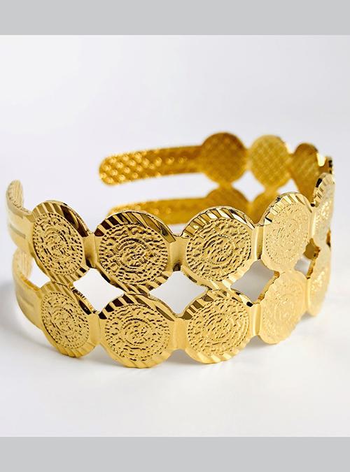 Colluli Cuff Gold Plated Bracelet
