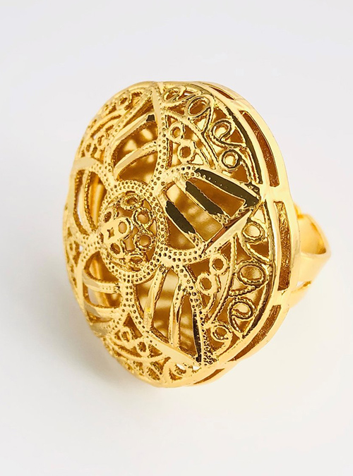 Halhal Gold plated Ring