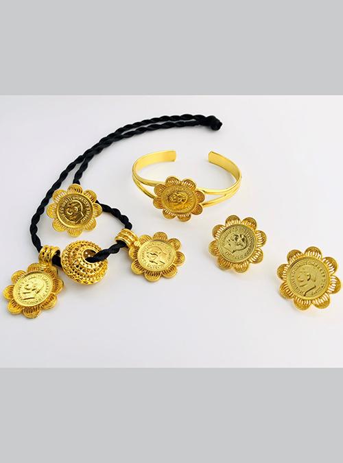 Melebso necklace ring bracelet set