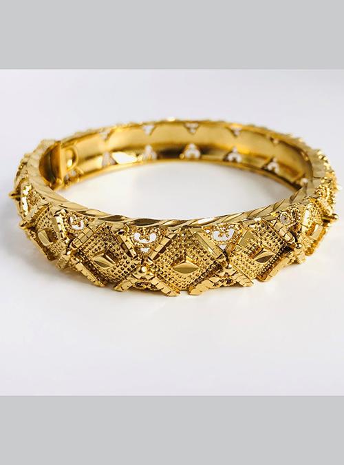 Nefasit Gold Plated Brass Bracelet