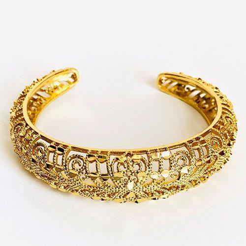 Saho Gold Plated Cuff