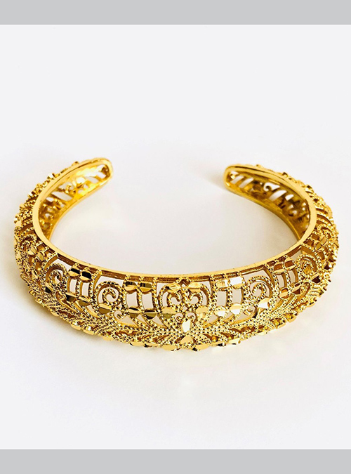 Saho Gold Plated Cuff