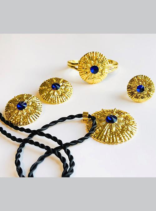 Elsa Dahlak Blue Ring Pendant set