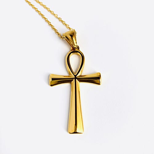 Ankh Life Gold Plated Pendant