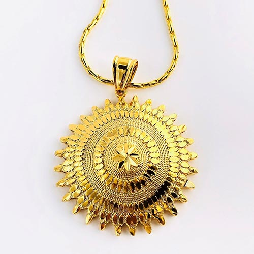 Birhan Gold Plated Brass Pendant
