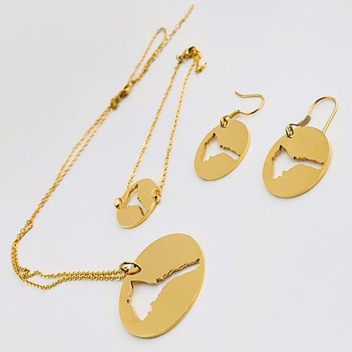 Hadinet Pendant earring bracelet set