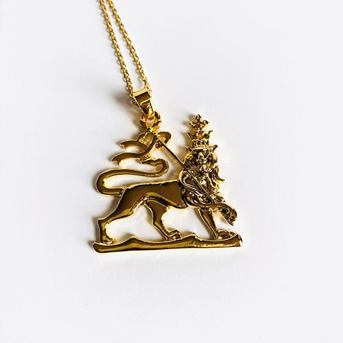 Lion King Gold Plated Brass Pendant