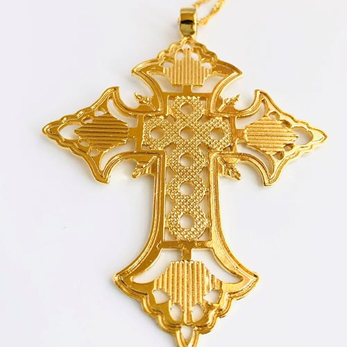 Melak Gold Plated Brass Pendant