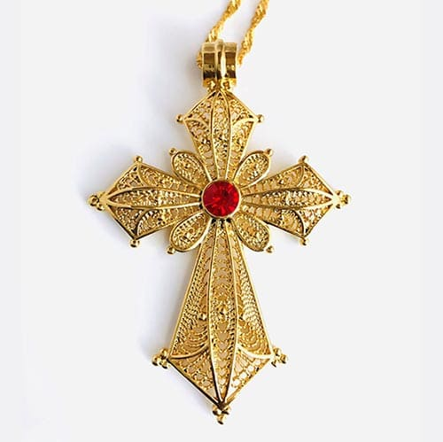 Menfes Gold Plated Brass Pendant