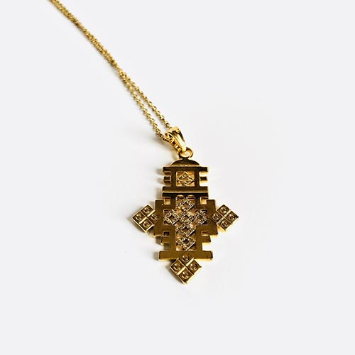 Meskel Gold Plated Pendant