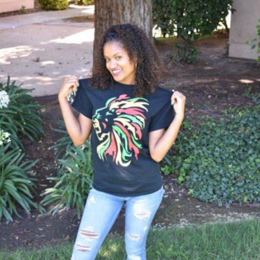 Cotton Lion Printed gilr T-shirt