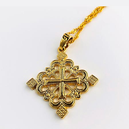 Timket Gold Plated Brass Pendant