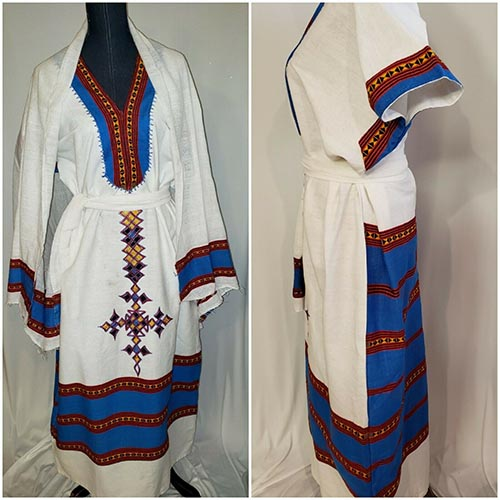 Ethiopian Traditional coffee dress Hand made