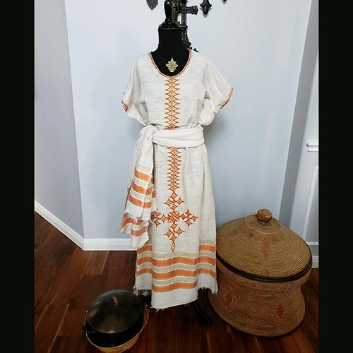 Ethiopian Traditional Hand spun dress