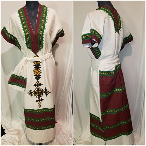 Ethiopian cotton dress Hand Spun