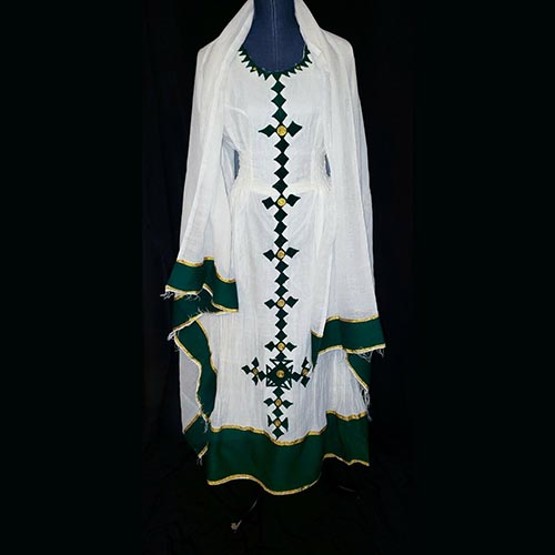 Ethiopian Traditional 100% Cotton Dress