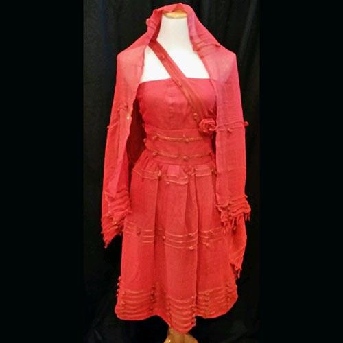 Ethiopian modern dress with shawl