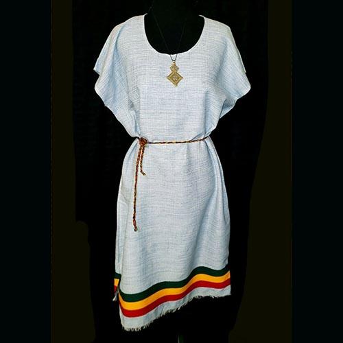 Ethiopian rasta short cotton dress