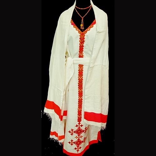 Traditional Ethiopian dress 100% cotton