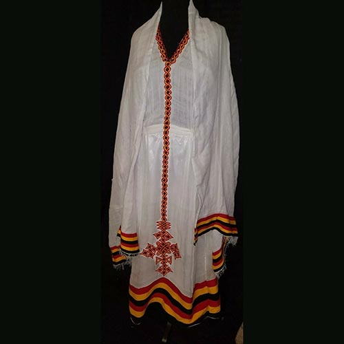 Ethio Traditional Embroidered Dress