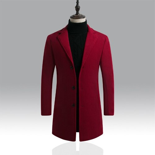 Winter Men Wool Blends Coats