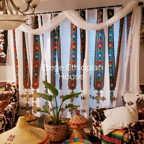 Polyester Fabric Window Curtain set