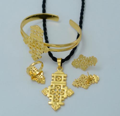 Ethiopian Cross Jewelry Set