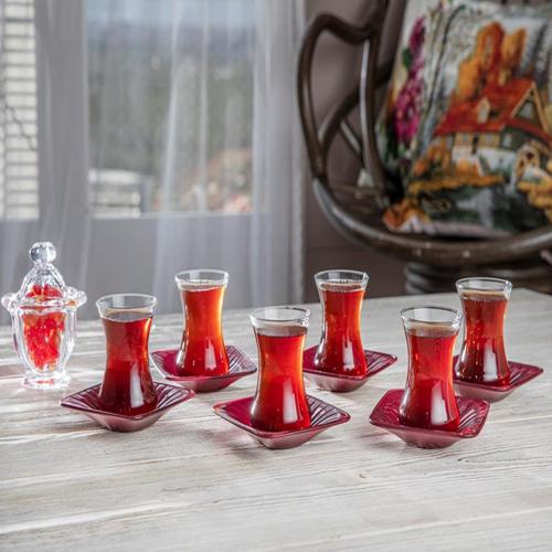Tea Glasses Saucer Set