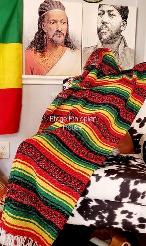 Ethiopian Throw Blanket Hand Woven