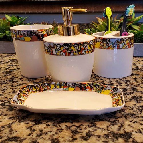 Bathroom Accessories Ceramic Set