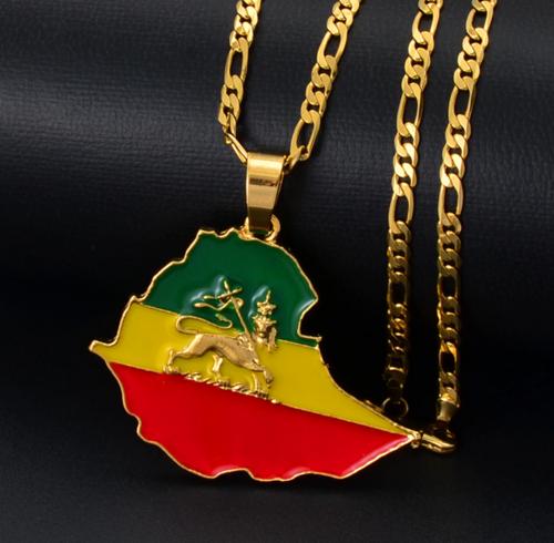 Ethiopia Pendant Chain Necklaces