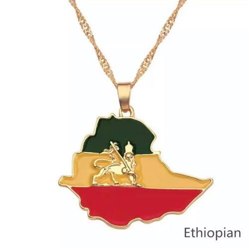 Ethiopian Pendant Chain Necklace