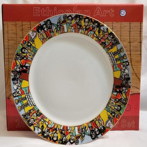Ethiopian Eritrean Dinner Plates Sets